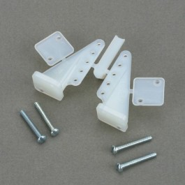 DUBR237 - T-style nylon control horns (2) - DuBro