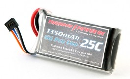 TP13502SPP25 0- Bateria Thunder Power 1350mAh 2S 7.4V G8 Pro Lite 25C - Thunder Power