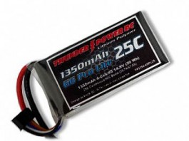 TP13503SPL25 - Bateria Thunder Power 1350mAh 3S 11.1V G6 Pro Lite 25C - Thunder Power
