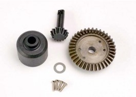 TRAX4981 - Ring gear 37T, pinion 13T, diff carrier (TM-SM) - Traxxas