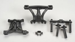 TRAX5314 - Body mounts, front - rear (R) - Traxxas